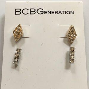 BCBGeneration Diamond & Bar shapes Simple Studs